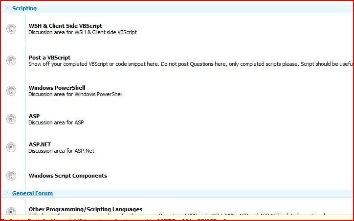 VBScript Forum