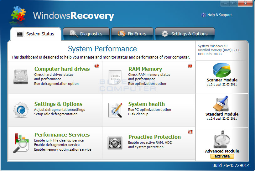 Windows Recovery Virus Image
