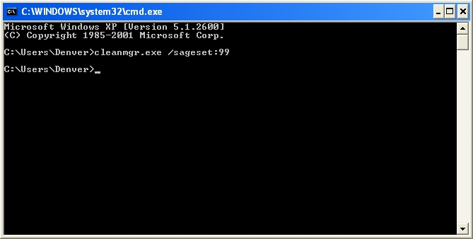 Running CleanMgr from the Command Prompt